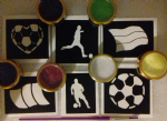 World Cup football themed glitter tattoo set   England France Germany Belgium Australia